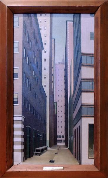 Robert Burkitt Sprague | URBAN VERTICALS  | oil on canvas | c.1925-1942 | On loan from Fine Arts Program, General Services Administration
