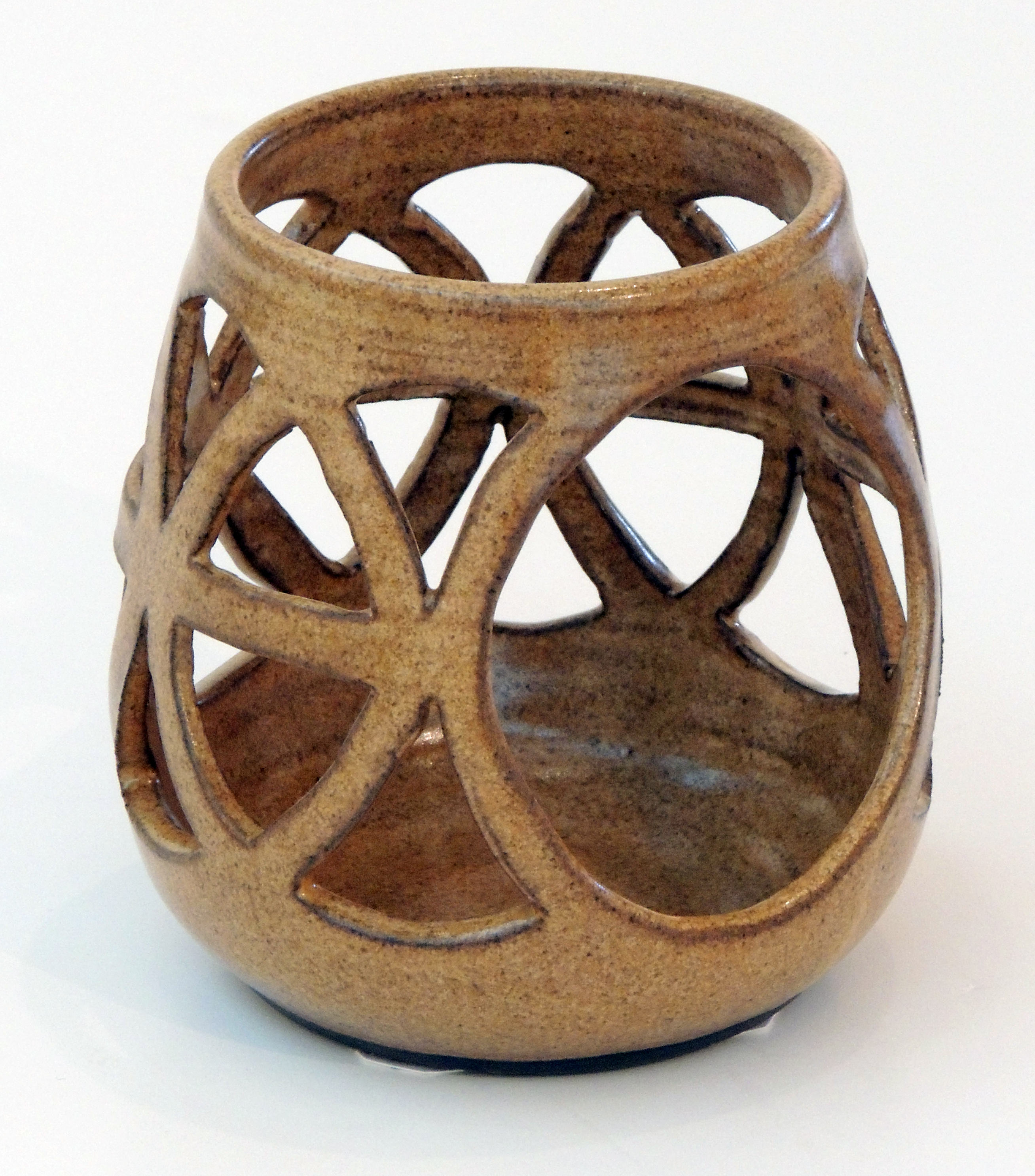 Robert Morris | CARVED CANDLE HOLDER | Stoneware clay