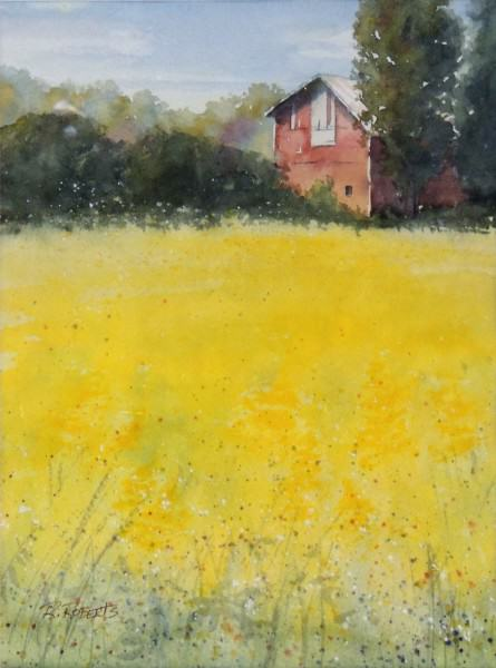Robin Roberts | YELLOW PRAIRIE | watercolor | 11 x 8""
