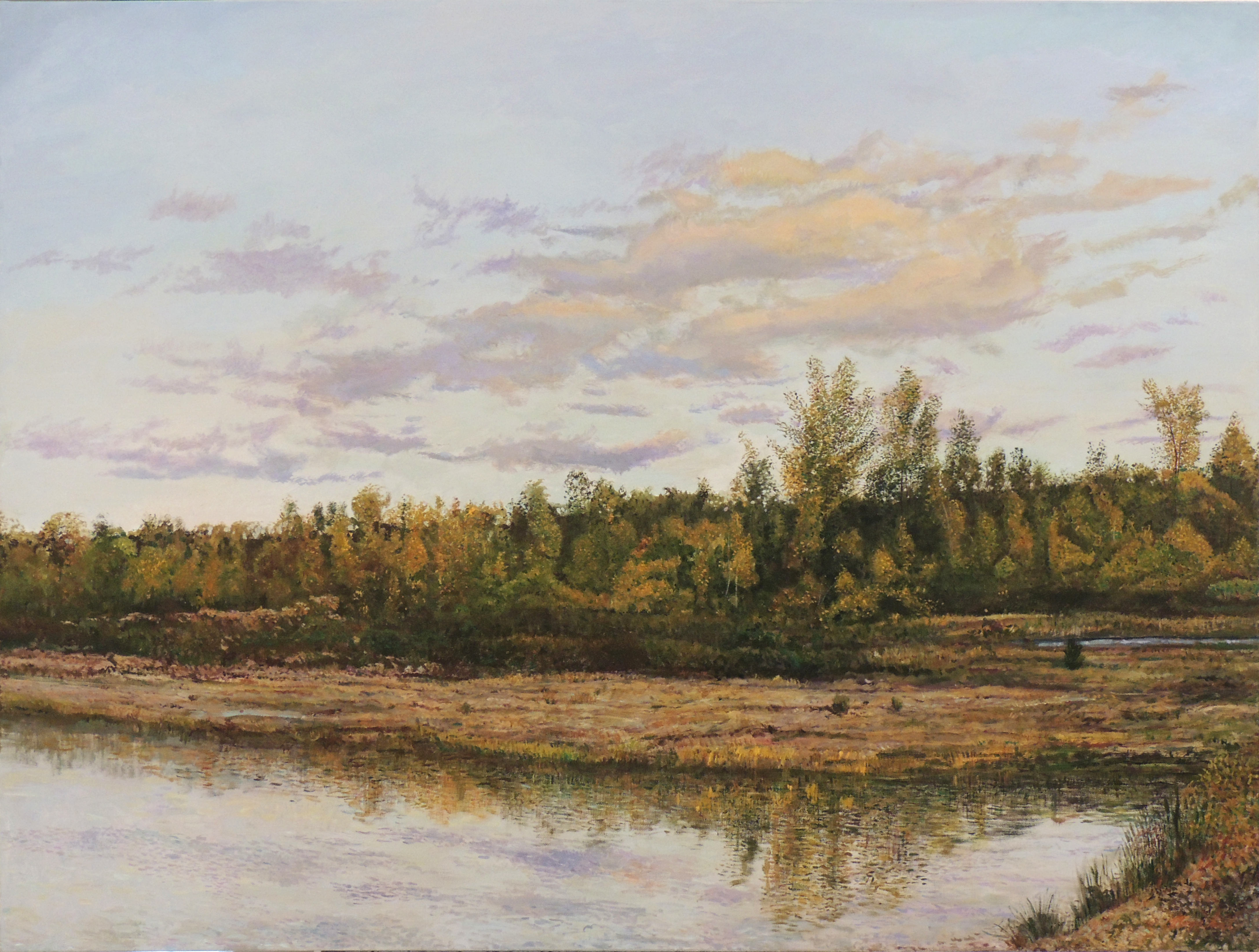 Roger Smith | EARLY AUTUMN AT OAKS QUARRY | Oil on Canvas