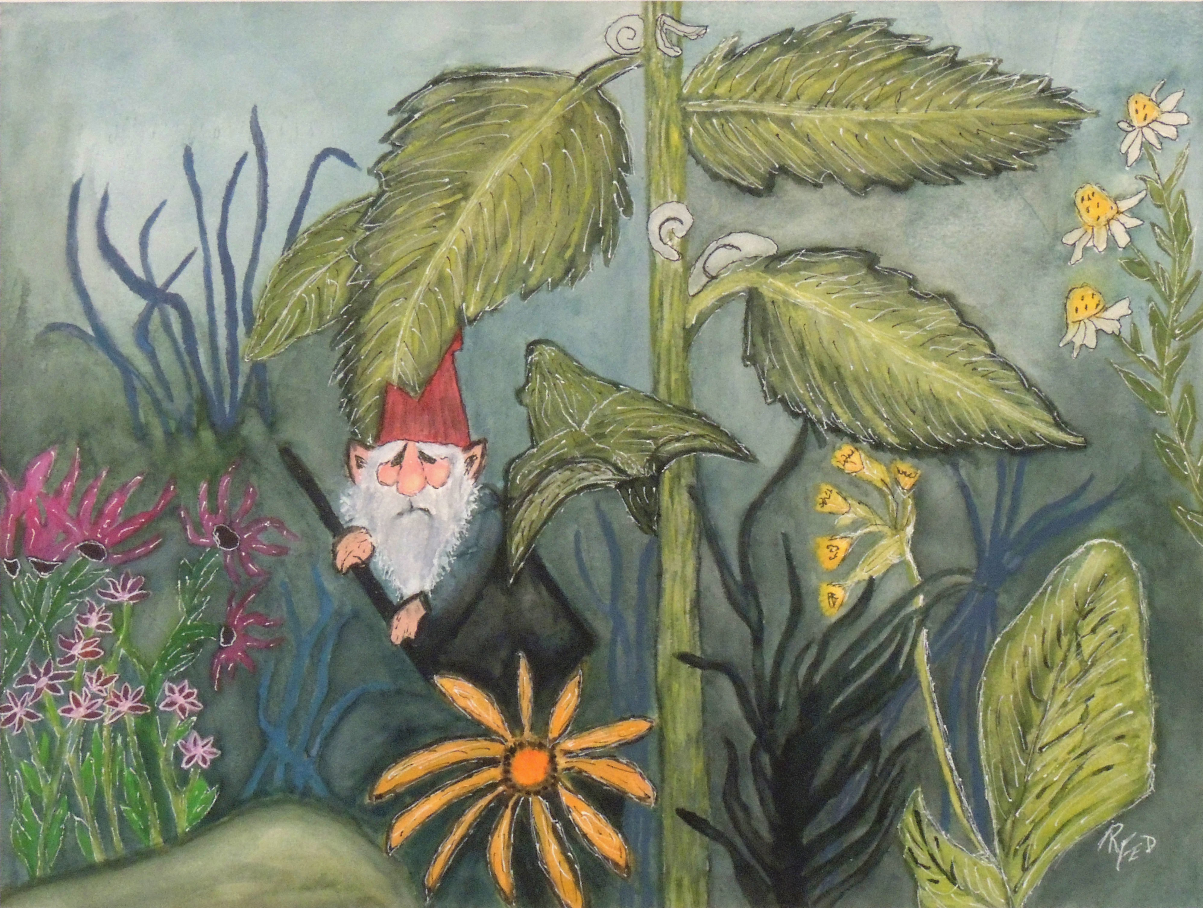 Rosemary Federer | GNOME SWEET GNOME | Watercolor