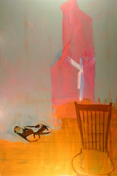 "Larry Shineman | SANDALS AND ROBE | 72"" x 48"" 
