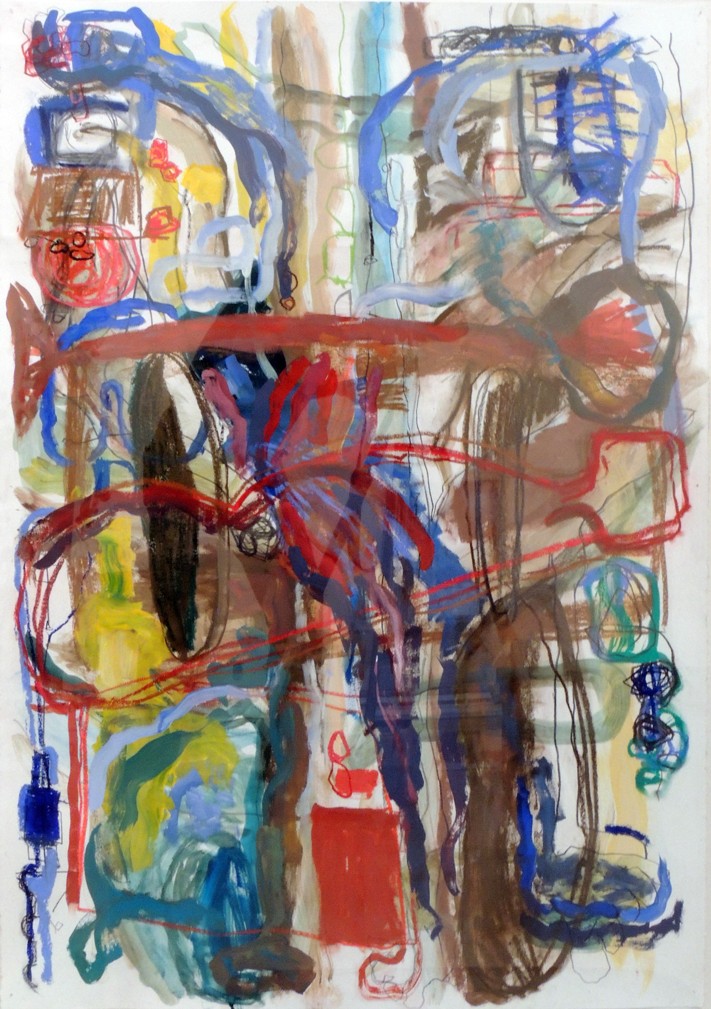 Second Place | Jan O'Dea | LANCE OF LONGINUS | Mixed gouache, pastels, graphite, and paper
