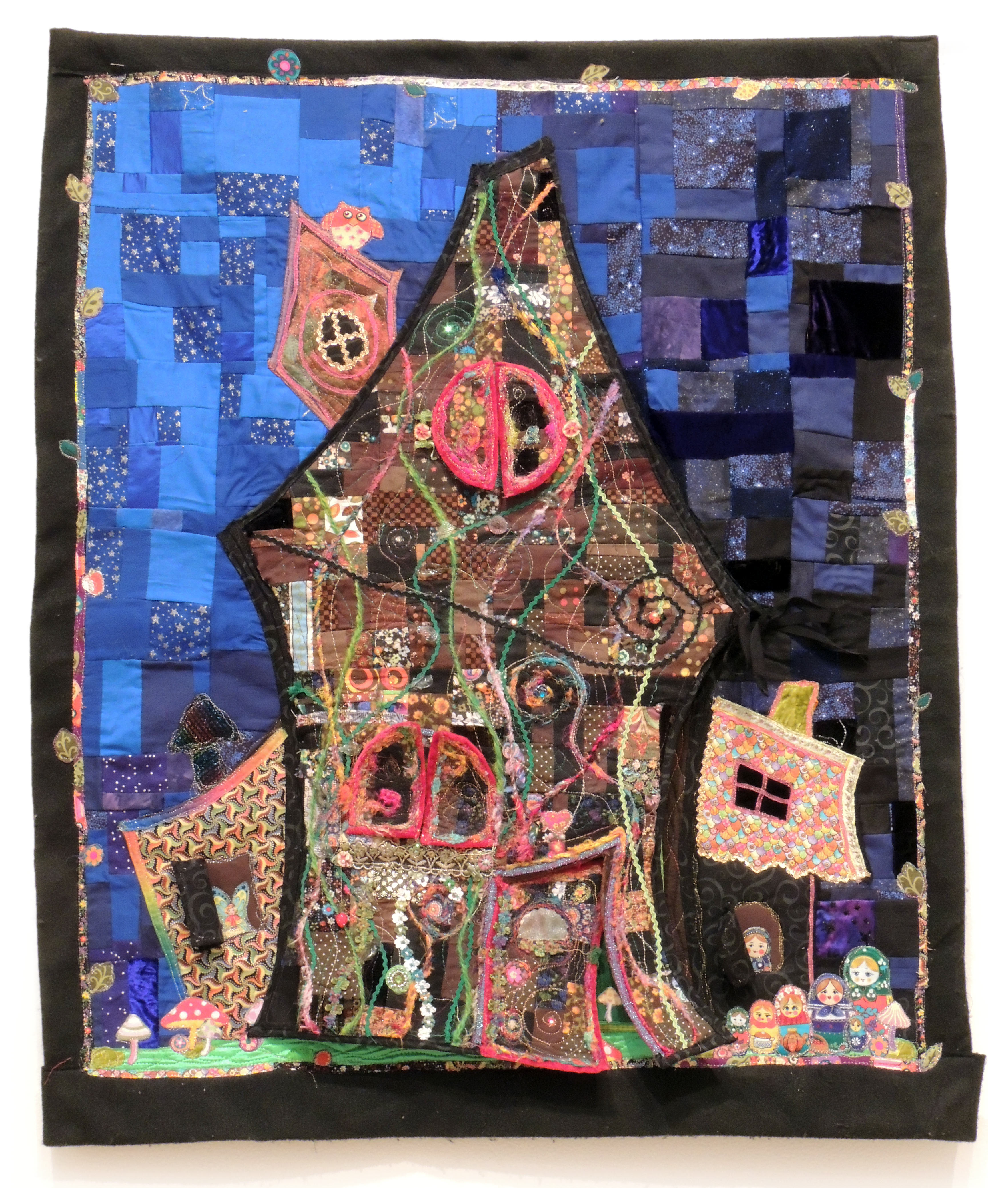 Sharri Paula Phillips | PATCHWORK HOUSE | fabric, mixed media | 2010 | variable dimensions | From the collection of Jeremy Holt and Amy Magnus