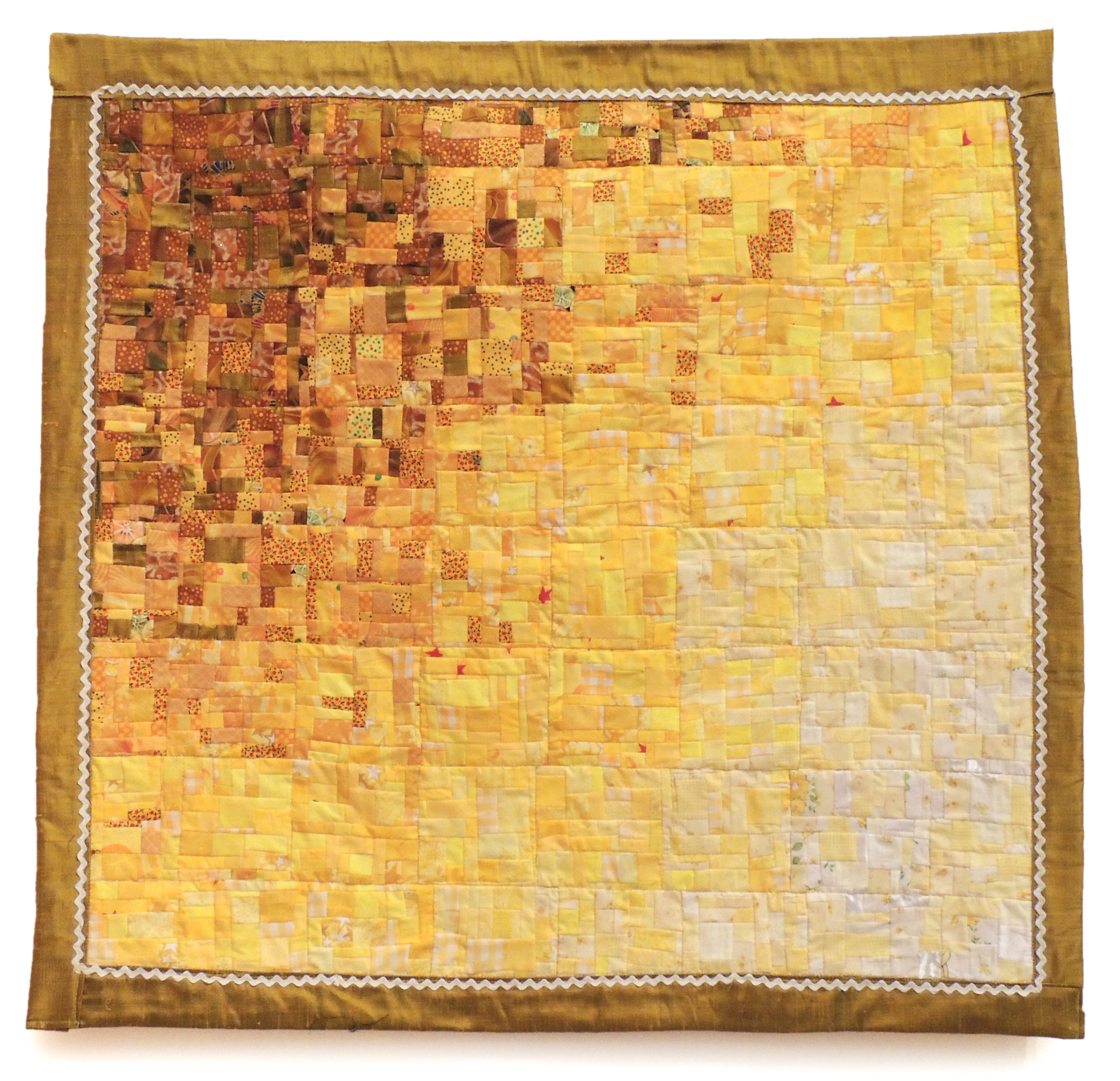 Sharri Paula Phillips | YELLOW WATERCOLOR QUILT | fabric | variable dimensions | 2015