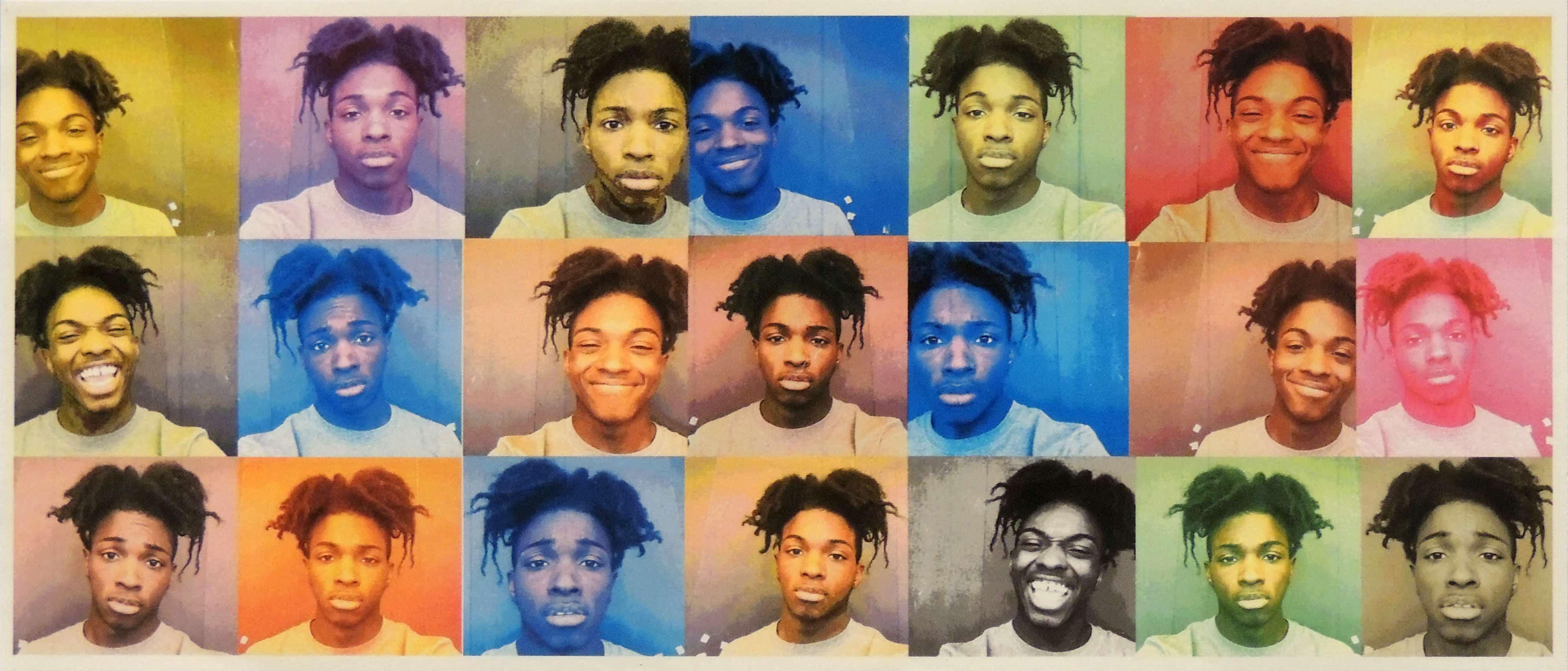 Shawn Daneil | SELF-PORTRAIT | Photoshop, Inspired by Andy Warhol | Shawnee High School Computer Design