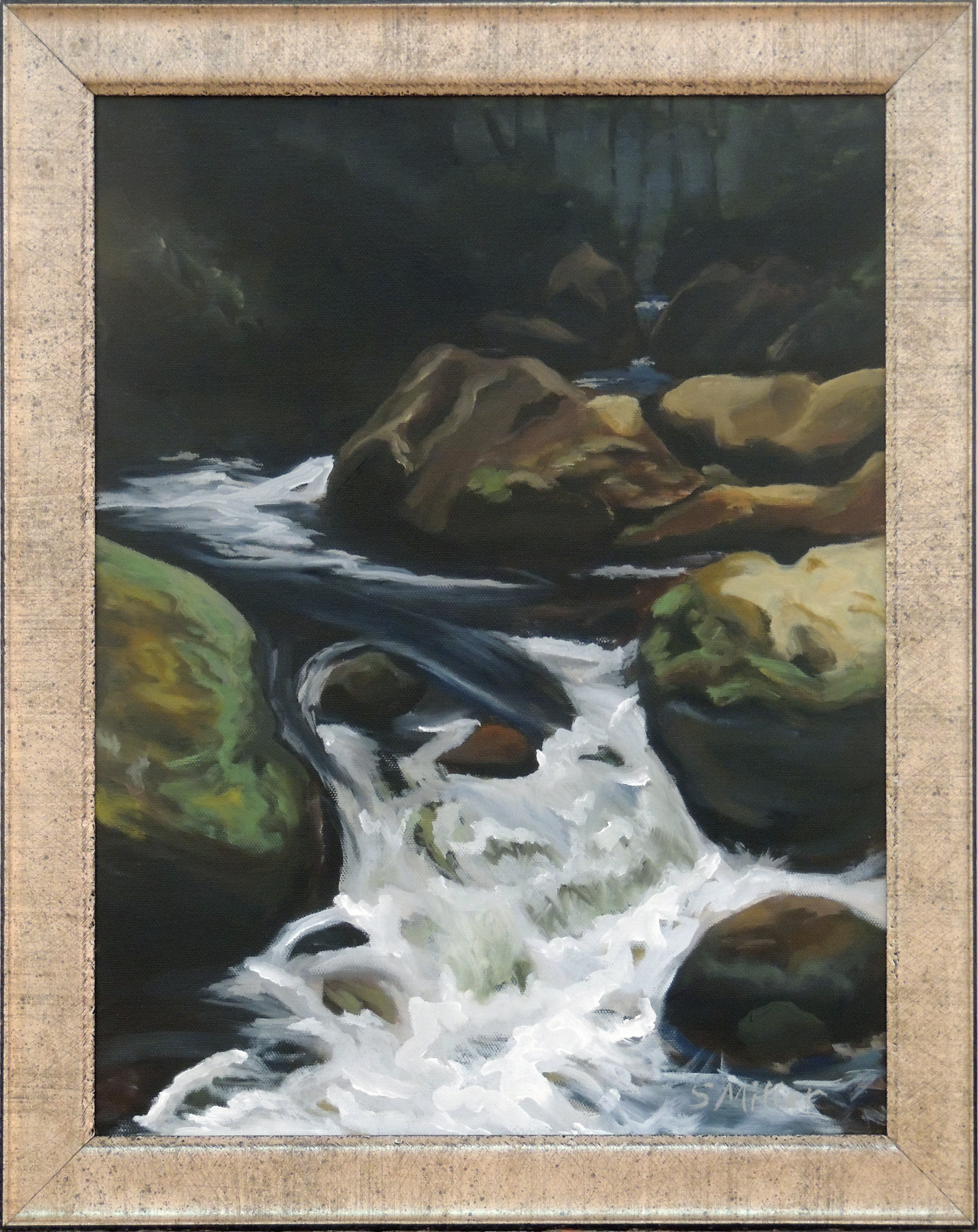 Shirley A. Miller | A RUSHING STREAM | Oil