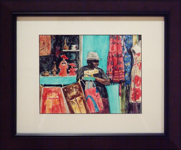 Best of Show | Shirley Harbaugh | TURKS TRADER | transparent watercolor | 2013