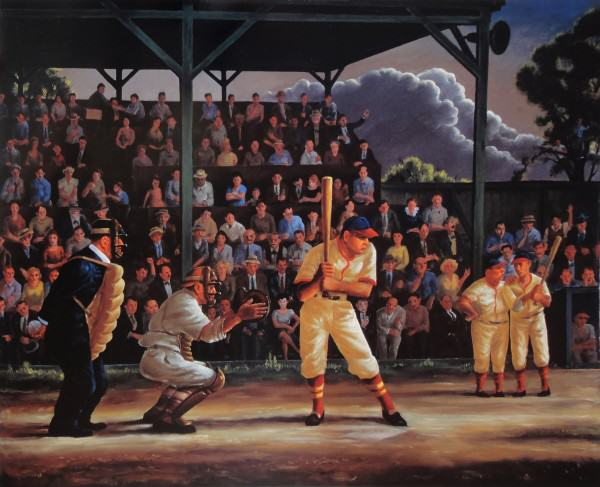 Clyde Singer | MINOR LEAGUE | 1946 | oil on canvas | 40 x 50"