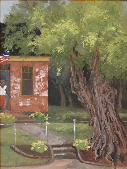 Susi Havens-Bezaire    IF TREES COULD TALK   oil on linen and gatorboard   plein air