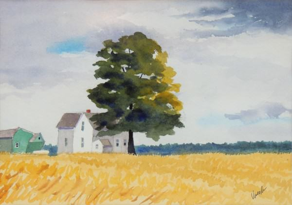 First Place Amateur Watercolor | Ted Vander Roest | FARM HOUSE