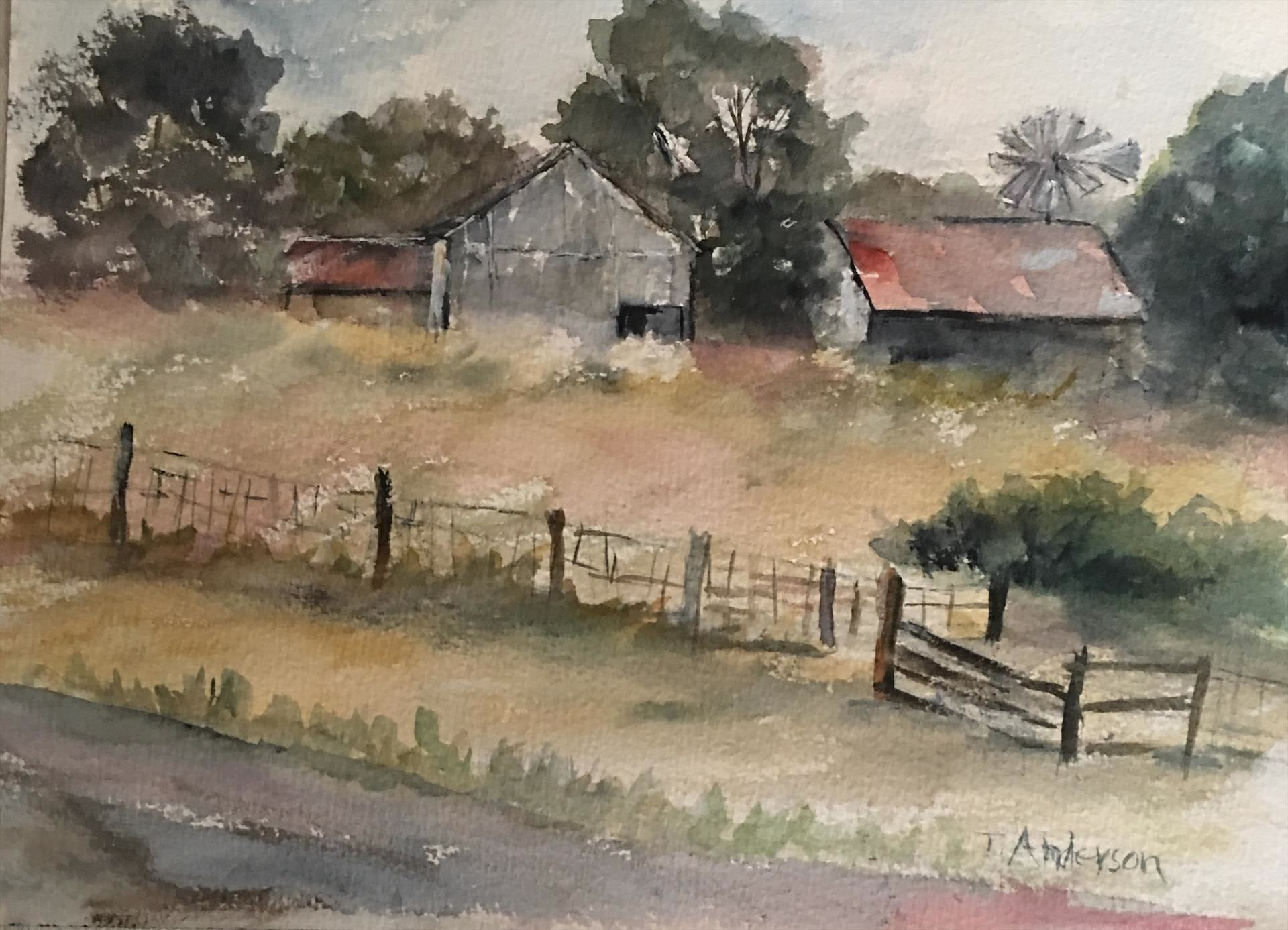 Terri Anderson | EARLY SUMMER DAY | watercolor | 9 x 12