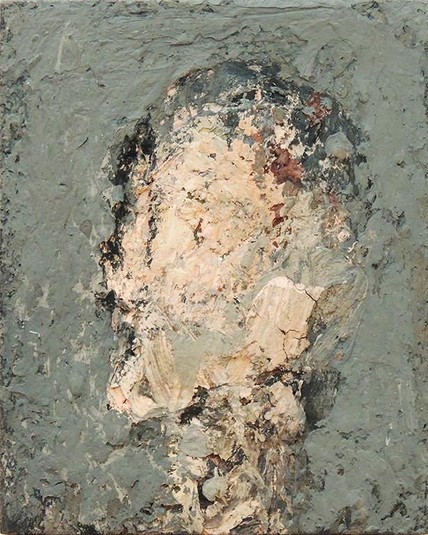 """Thaddeus Radell   HEAD STUDY   Oil on wax on panel   10 x 8""""   2016"""