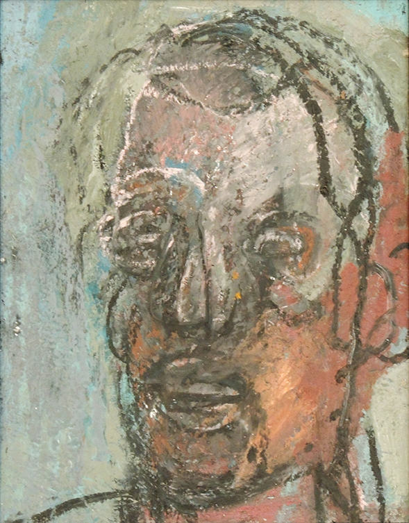 Thaddeus Radell | STUDY FOR A PORTRAIT OF OTHELLO | Oil and wax on panel-web