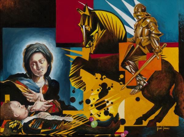 "Jimi Jones | THE DEATH OF INNOCENTS/INNOCENCE! | oil on canvas | 30 x 40"" | 2012"