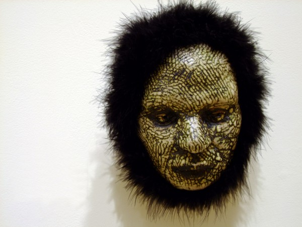 Thomas Bartel | BLACK FUZZ (WOLFBOY) | ceramic, mixed media