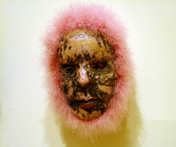 Thomas Bartel | PINK FUZZ HEAD | ceramic, mixed media