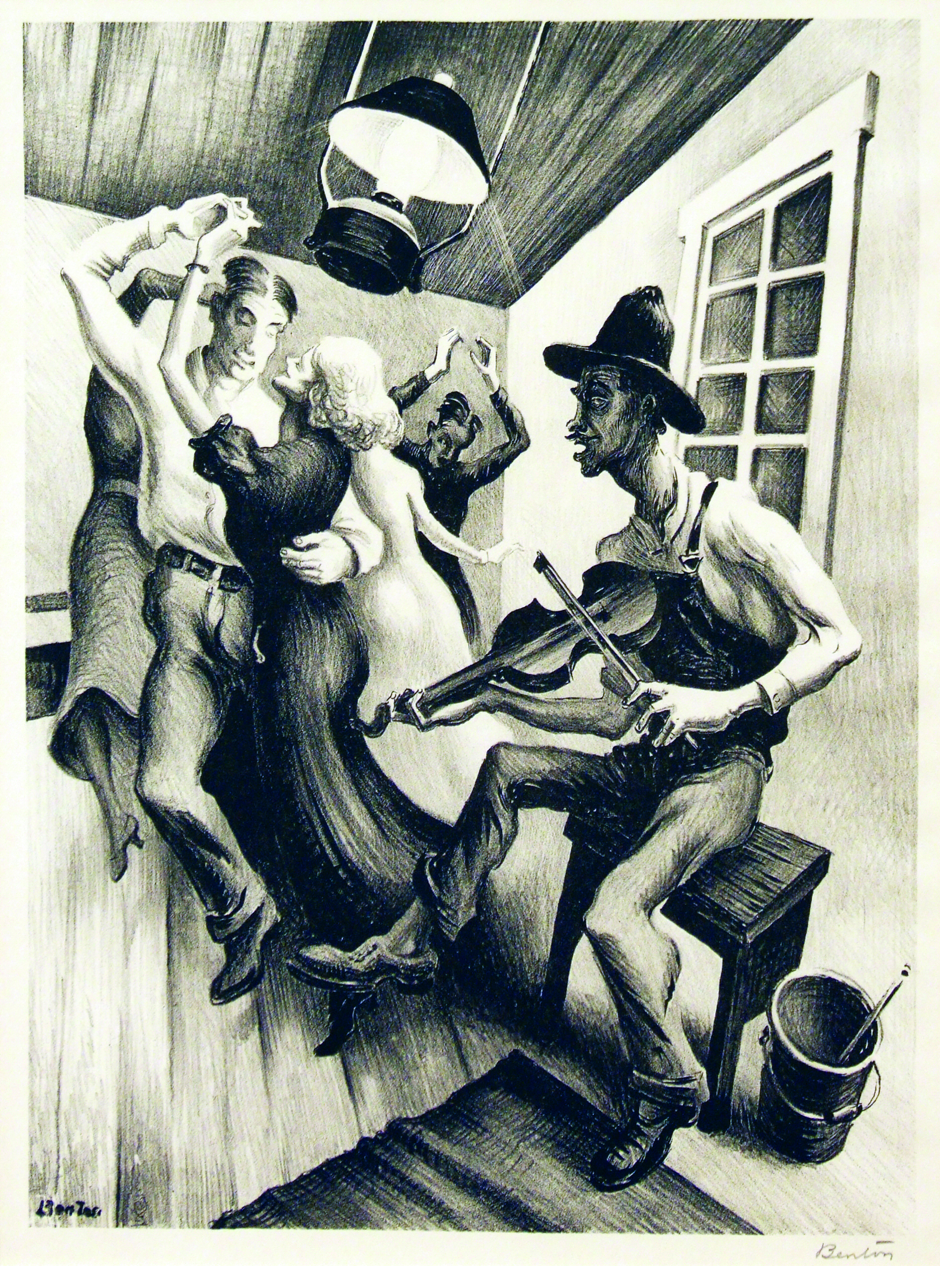 2005.005 | Thomas Hart Benton | I GOT A GIRL ON SOURWOOD MOUNTAIN | lithograph | 12-/12 x 9-1/8"