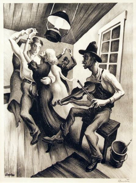 2005.005.06 | Thomas Hart Benton | I GOT A GAL ON SOURWOOD MOUNTAIN | lithograph | 12-1/2 x 9-1/8"