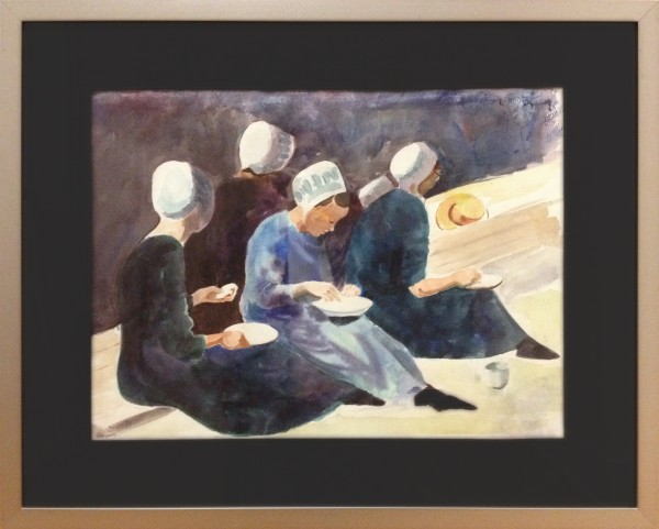 Timothy J. Smith | AMISH LADIES AT LUNCH | transparent watercolor | 2012