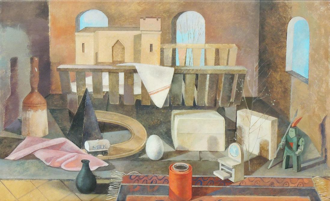 "Tina Engels | NURTURE NATURE | Oil on canvas | 18 x 30"" | 2017"