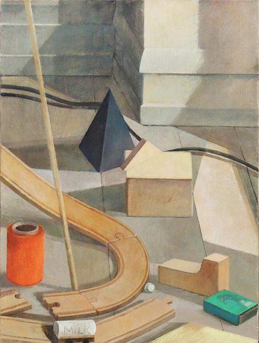 "Tina Engels   THE BRIDGE   Oil on canvas   16 x 24""   2017"