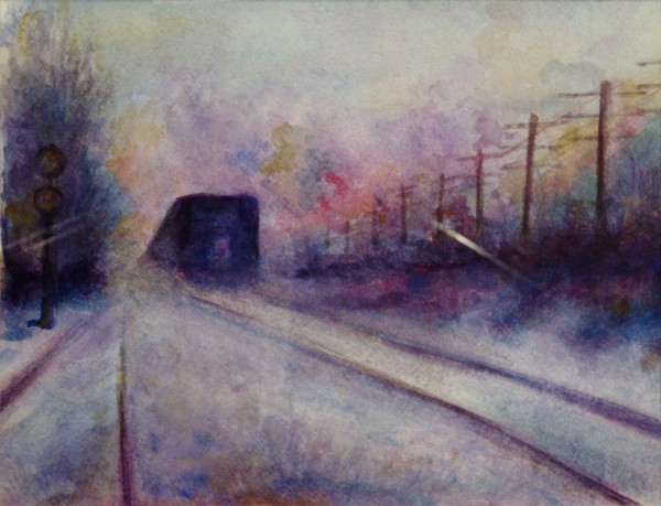 Walt Murch | END OF THE LINE | transparent watercolor | 2013
