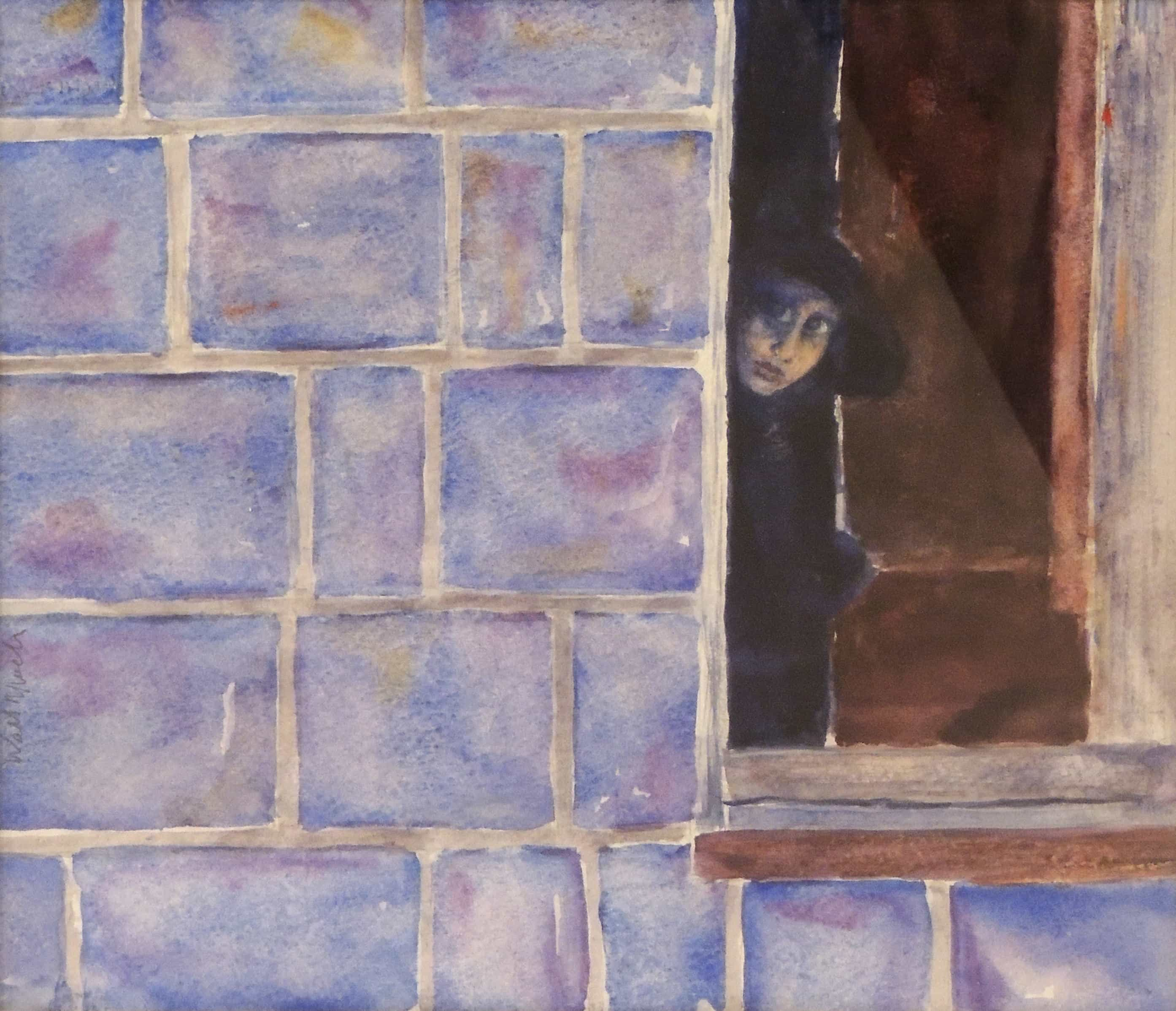 Walt Murch | PEEKABOO | watercolor | 9 x 10""