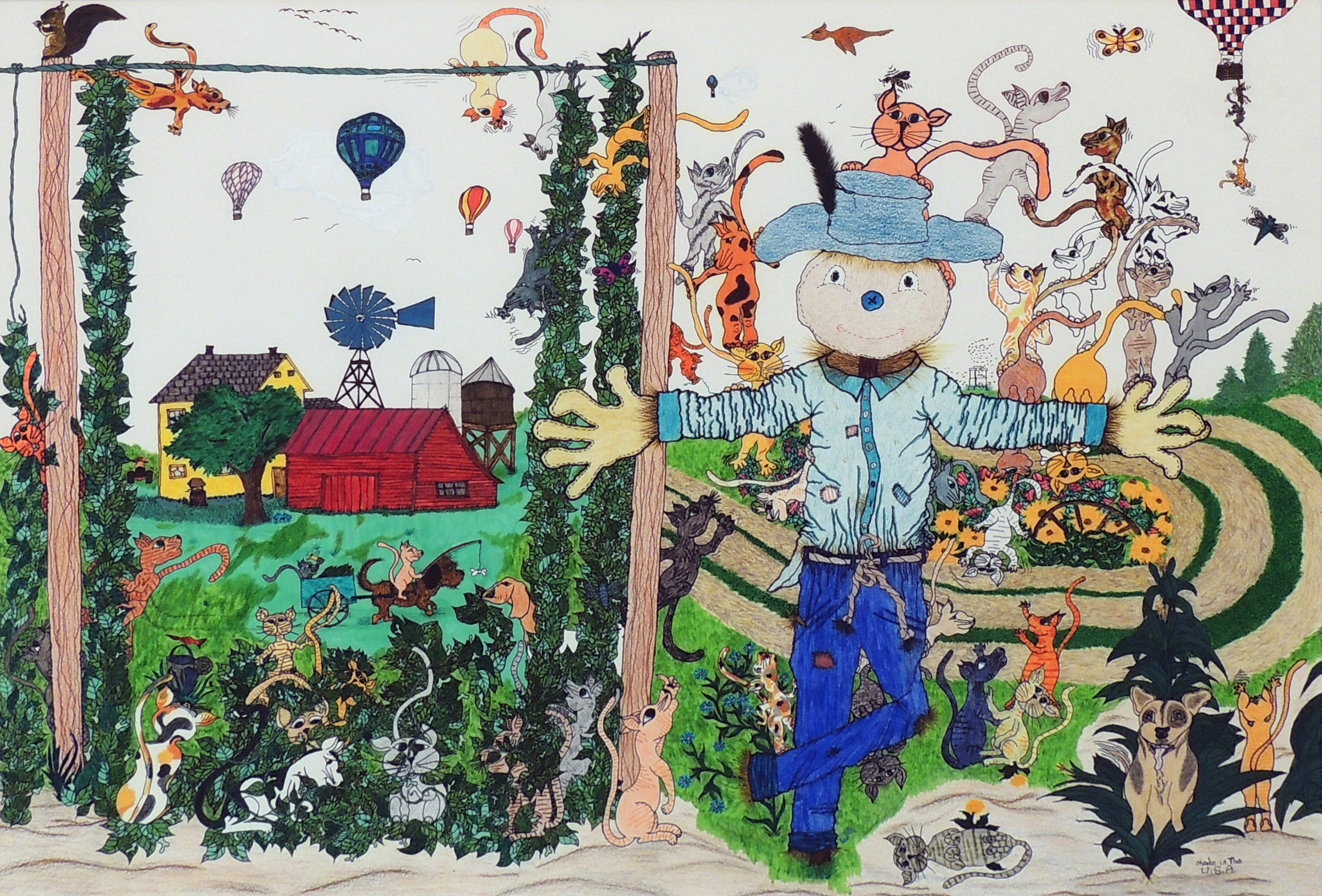 Wanda M. Gancarz | COUNTRY RENDEZVOUS | Colored pencil and marker