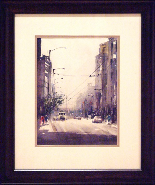 Yuki Hall | MAINSTREET-DAYTON | transparent watercolor | 2013