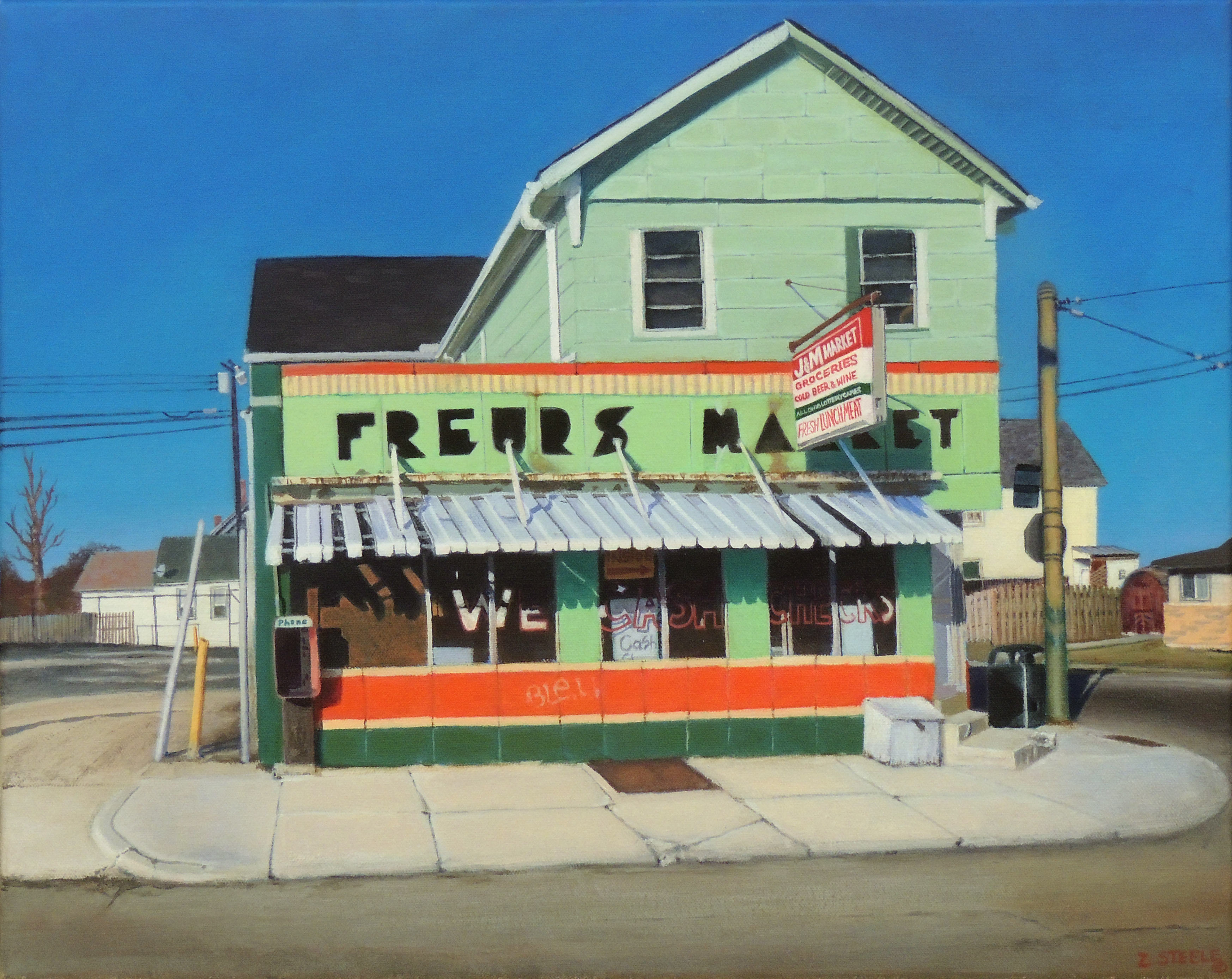 Zachary Steele | FREURS MARKET | Acrylic on Canvas