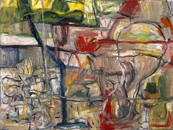"Alan Crockett   CLOSE UPS IV (MASK)   18 X 24""   oil on canvas   2012"