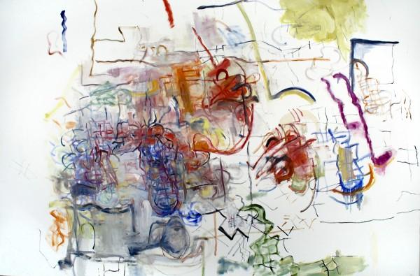 "Alan Crockett   FIZZLES (FOR BECKETT)   66 X 96""   oil on canvas   2012"