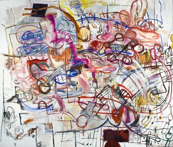 "Alan Crockett   LAST LAUGH   67.5 X 79""   oil on canvas   2012"