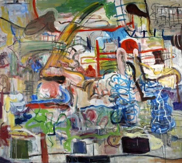 "Alan Crockett   PAINTER'S PORTRAIT (WANDERING)   60 X 72""   oil on canvas   2013"