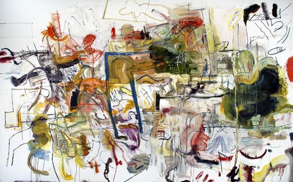 "Alan Crockett   RUNAWAY BLUES    oil on canvas   64 x 96""   2013"