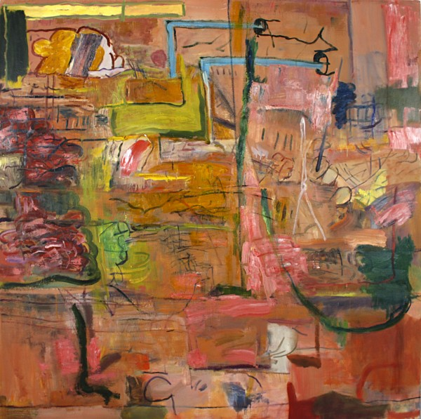 "Alan Crockett   SPECIMEN   48 X 48""   oil on canvas   2012"