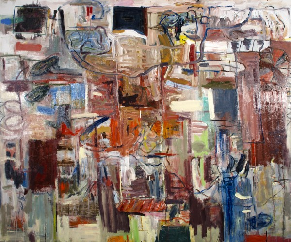 """Alan Crockett   WITZ END   60 X 72""""   oil on canvas   2013"""